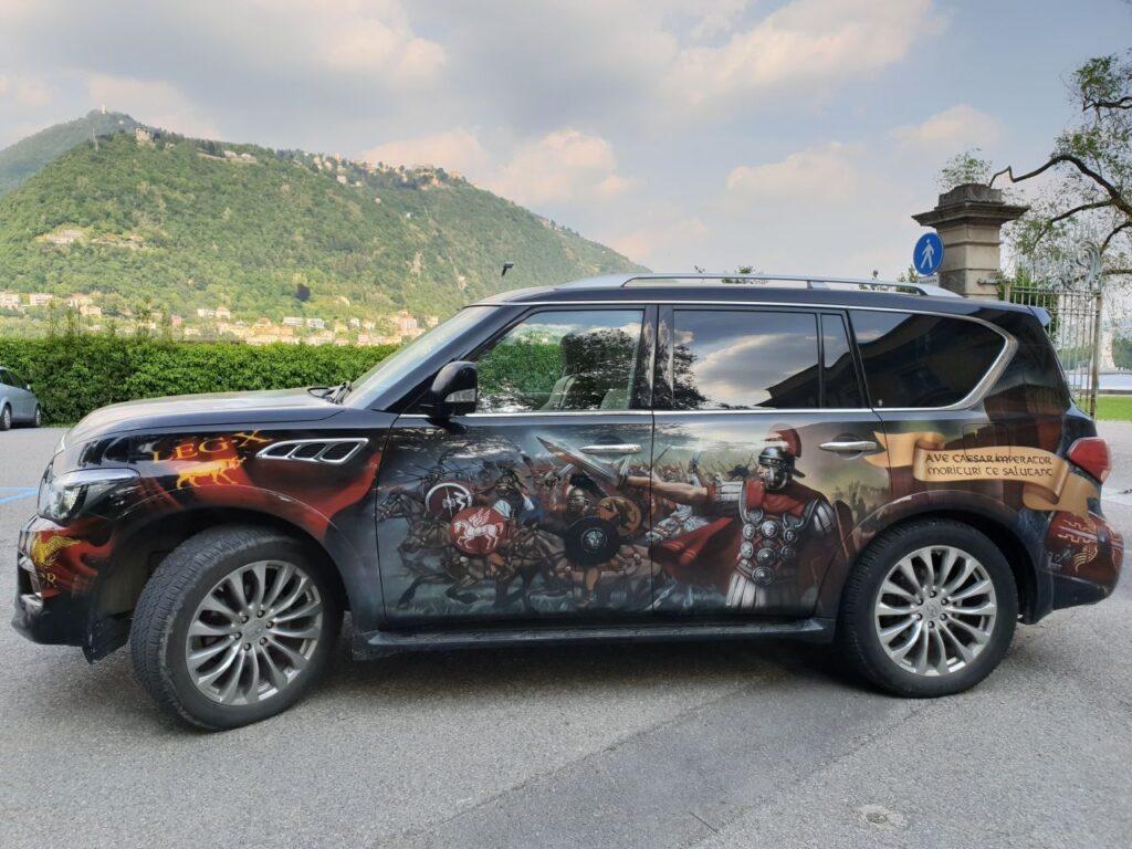 Печать на виниловой пленке - римские войны, автомобиль